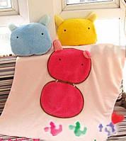 Теплое одеяльце и подушка, 2 в 1 - Кошка