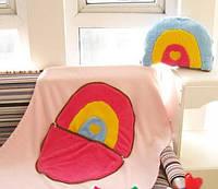 Теплое одеяльце и подушка, 2 в 1 - Радуга
