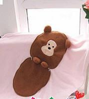 Теплое одеяльце и подушка, 2 в 1 - Мишка
