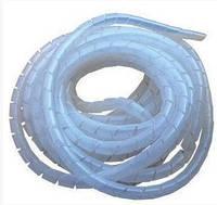Кабель-канал білий, спіраль (гнучкий), ф18