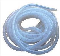 Кабель-канал білий, спіраль (гнучкий), ф6