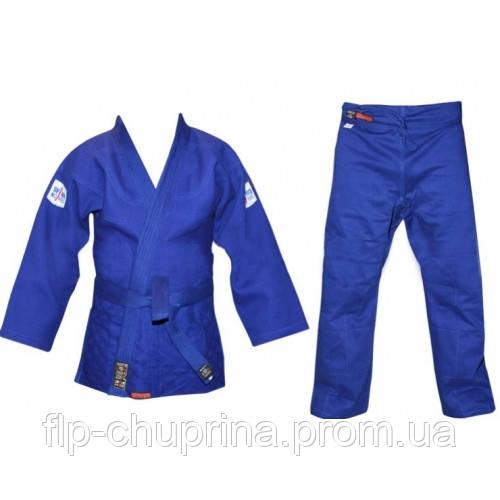 Кимоно для дзюдо профессиональное синее Sfam Noris