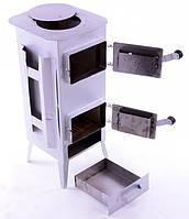 Печь буржуйка стальная 180 м2 11 шамотных кирпичей (шамотная піч стальна шамотної цегли)