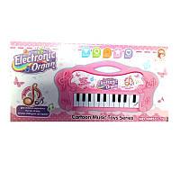 Орган-пианино на батарейках, розовый, 26х13х3 см