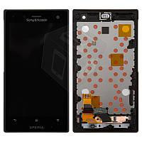 Дисплейный модуль (дисплей + сенсор) для Sony Xperia Acro S LT26W, с передней панелью, оригинал