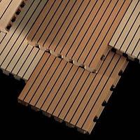 Акустические декоративные панели Fantoni(Италия) Цвет Венге, перф. 14/2, 4086мм.*128мм*16мм.