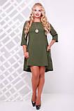 Платье   Милана оливковое 50 р, фото 6