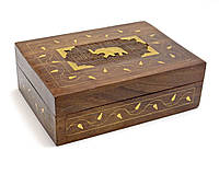 Шкатулка деревянная Слон