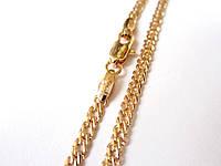 Цепочка + браслет плетение Двойной ромб MAR, размер 60 см. бр. 20.5 см. ширина 5мм