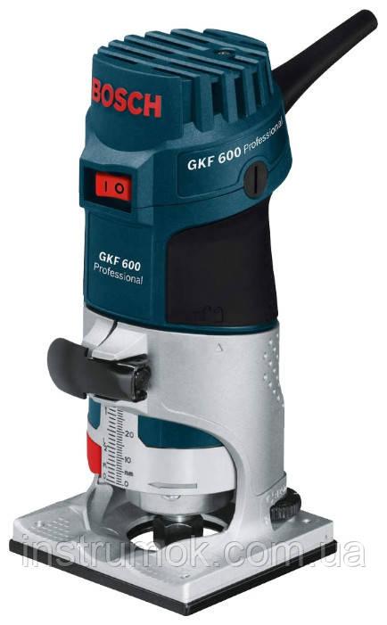 Кромочный фрезер Bosch GKF 600 + аксессуары
