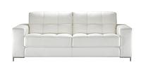 Кожаный раскладной диван Калифорния, белый (214 см) (3 цвета в наличии)