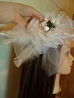 """Шляпка-Цветок на голову """"Воздушная"""""""