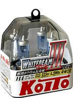 Автолампы Koito WhiteBeam III, 4200К, H4, 2шт., P0754W