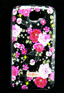 Чехол накладка для LG K4 K130E силиконовый Diamond Cath Kidston, Ночные розы