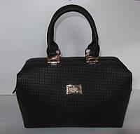 Женская сумка саквояж черная