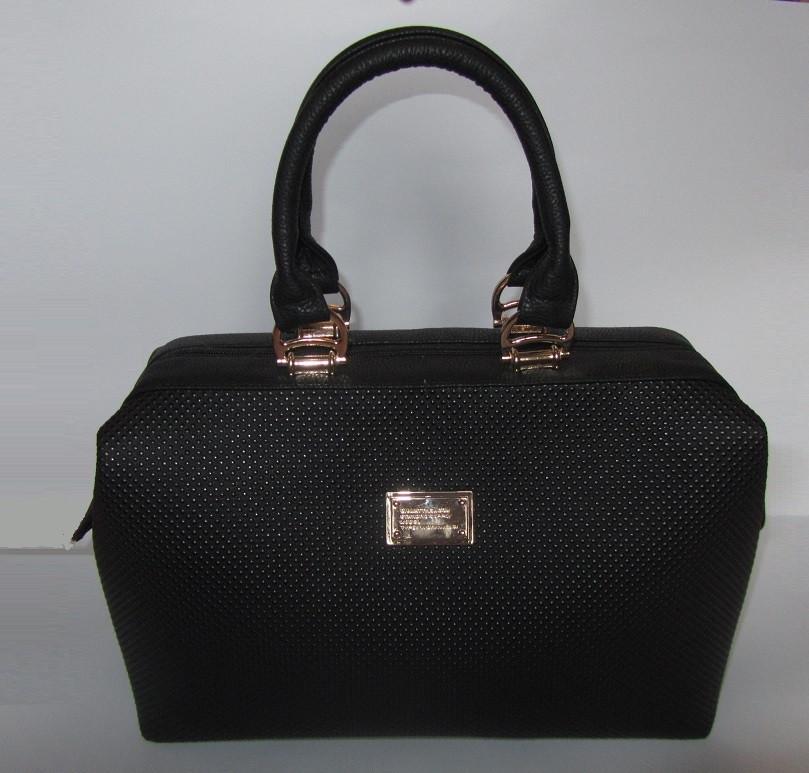 2bf35402fcde Женская сумка саквояж черная - Интернет-магазин