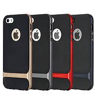 Накладка для iPhone 5 / 5S / SE пластик TPU + PC Rock Royce Cross Series Черный / Красный