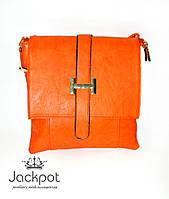 Яркая сумка клатч оранжевая