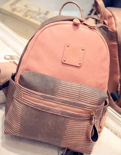 Интересный женский рюкзак персикового цвета 10L c карманом для планшета URBANSTYLE 102