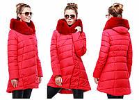 Женская зимняя стильная куртка,с мехом, отличное качество, хорошая цена, Карима, разные цвета