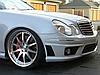 Передний бампер Mercedes W211 тюнинг обвес E63 AMG, фото 8
