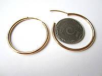 Серьги кольца, средние
