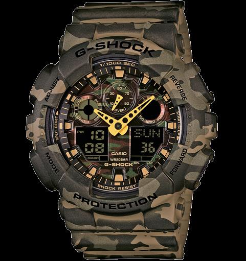 Часы Casio Original G-Shock GA-100CM-5AER камуфляж