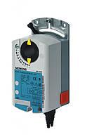 Привод заслонки дискретный, 24В  Siemens GDB131.1E, 0,8м2