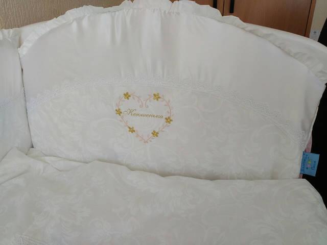 Именные постельные комплекты в кроватку 12
