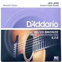 Струны D'Addario EJ13 Bronze 80/20 11-52, фото 1