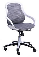 Кресло Колибри белый/сетка серая (X-10)