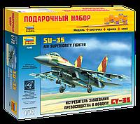 Подарочный набор сборная модель Zvezda (1:72) Российский истребитель-бомбардировщик Су-35