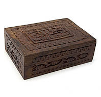 Шкатулка резная деревянная