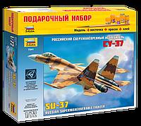 Подарочный набор сборная модель Zvezda (1:72) Российский сверхманевренный истребитель Су-37