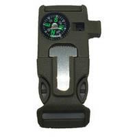 Фастекс с огнивом,компасом, свистком и мини-ножом милитари