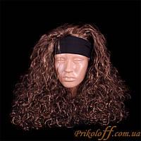 Парик длинный с повязкой, вьющиеся волосы