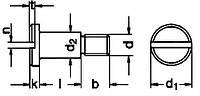 DIN 923 Винт ступенчатый установочный с цилиндрической головкой