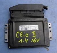 Блок управления двигателем ( ЭБУ )RenaultClio II 1.4 16V1998-2005Siemens sirius 32n, S110130058 A, 8200069