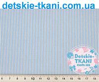 """Ткань хлопковая """"Макароны"""", голубой цвет ( № 394а)"""