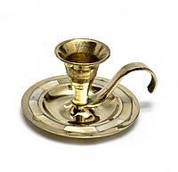 Подсвечник бронзовый для одной свечи