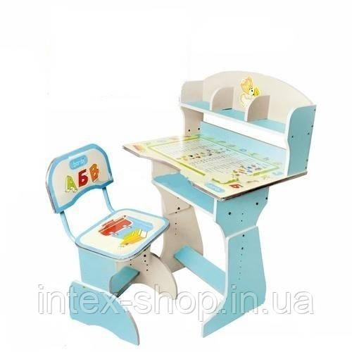 Детская парта со стульчиком трансформер Bambi HB 2070-04 (стол-парта растишка)киев