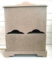 Чайный дом с ящиком ДВП заготовка для декупажа 20,8*20,8 см, 1 шт