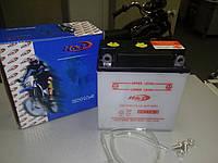 Кислотный аккумулятор 11A/6V  сухозаряженный длина 120, высота 130, ширина 56