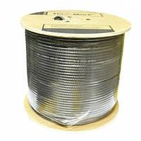 Коаксильные кабель FinMark F 660 BV black бухта 100м