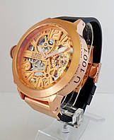 Часы UBOAT Gold Skeleton