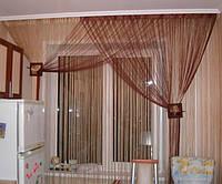 Веревочные шторы однотоные