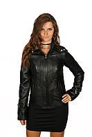 Куртка кожаная со съемным капюшоном, фото 1