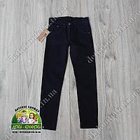 Брюки-джинсы для мальчика в школу синие