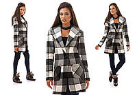 Женское пальто на одной пуговице