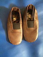 Чешки кожаные коричневые